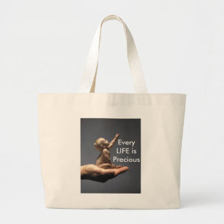 Every LIFE is Precious BabyinHand Tote Canvas Bags