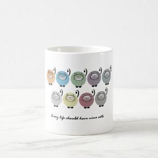 Every Life Should Have Nine Cats Coffee Mug