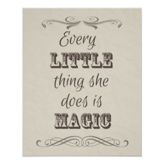 Every Little Thing She Does Poster