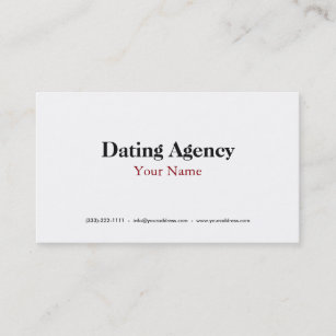 Dating agency business cards zazzle every love story is beautiful dating agency card colourmoves