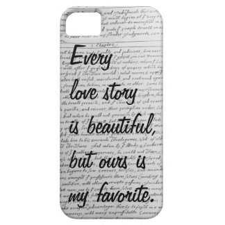 Every Love Story is Beautiful, Our Story iPhone 5 iPhone SE/5/5s Case