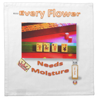 Every (mahjong) flower needs moisture! napkin