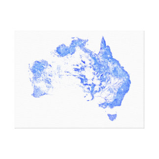 Every mapped stream and river in Australia! Canvas Print