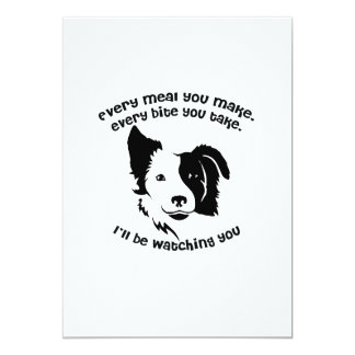 Every meal you make Border Collie Card