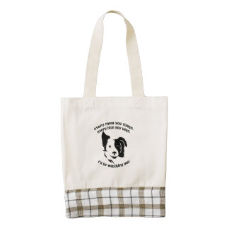 Every meal you make Border Collie Zazzle HEART Tote Bag