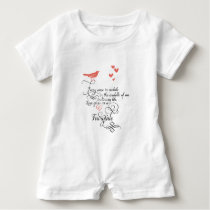 Every once in awhile in an ordinary life. baby romper