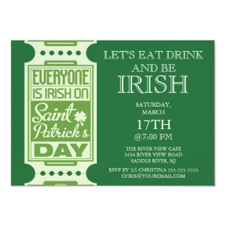 Every One is Irish St. Patrick's Day Party Invitation