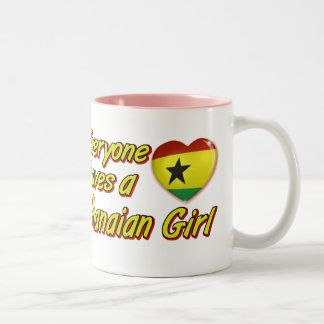Every one loves a Ghanaian girl Two-Tone Coffee Mug