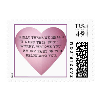 EVERY PART OF YOU BELONGS TO YOU. POSTAGE STAMP