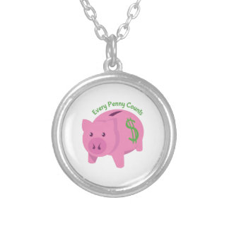 Every Penny Counts Round Pendant Necklace