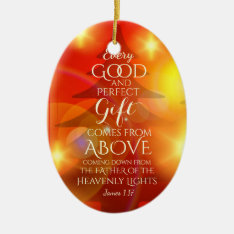 Every Perfect Gift Comes From Above, Personalized Ceramic Ornament at Zazzle