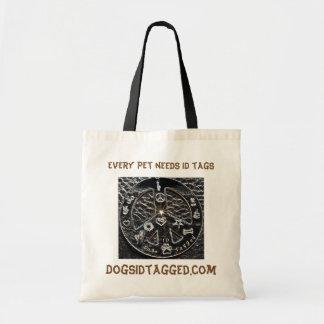 Every pet needs ID tags Budget Tote Bag