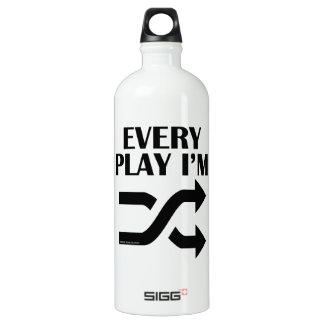 Every Play I'm Shufflin' Aluminum Water Bottle