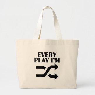 Every Play I'm Shufflin' Tote Bags