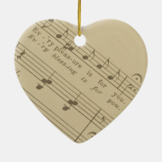 """""""Every Pleasure Is For You"""" - Music Heart Ornament"""