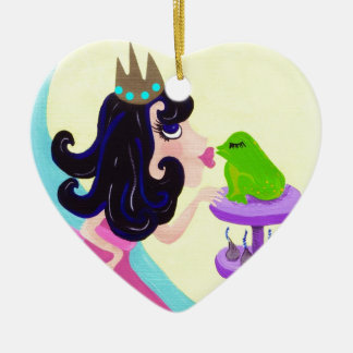 Every Princess has to kiss a lot of Frogs Ceramic Ornament