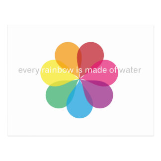 Every rainbow is made of water postcard