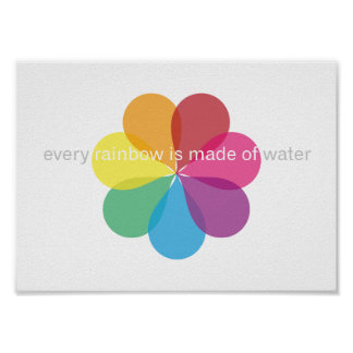 Every rainbow is made of Water - poster