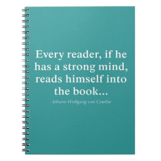 Every Reader Reads Himself Into The Book Note Books