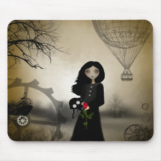 Every Rose Has It's Thorn Steampunk Art Mouse Pad