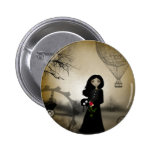 Every Rose Has It's Thorn Steampunk Art Pins