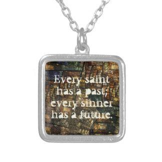 Every Saint Square Pendant Necklace