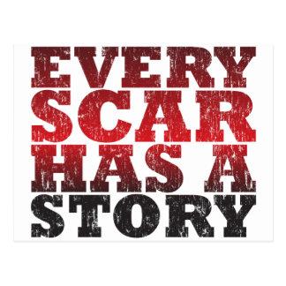 Every Scar Has a Story Postcard