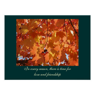 Every Season Time for Love Friendship art prints Poster