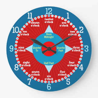 Every Second Counts - Blue & Red Learning Clock