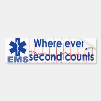 every second counts car bumper sticker