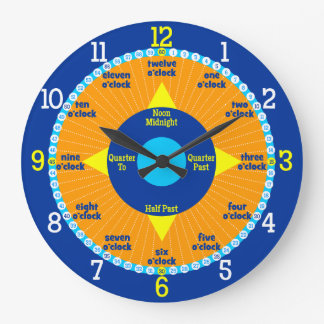 Every Second Counts - Orange & Blue Learning Clock