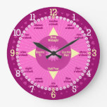 Every Second Counts - Pink & Purple Learning Clock