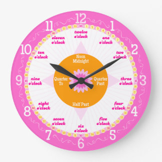 Every Second Counts - Pink & White Learning Clock