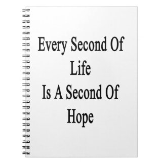 Every Second Of Life Is A Second Of Hope Notebook