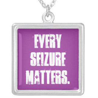 Every seizure matters silver plated necklace