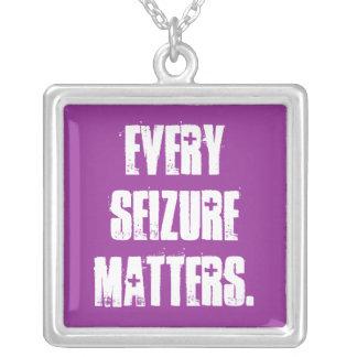 Every seizure matters square pendant necklace