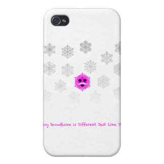 Every Snowflake is Different iPhone 4 Case