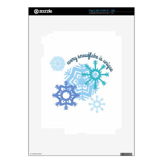 Every Snowflake Is Unique Skins For iPad 2