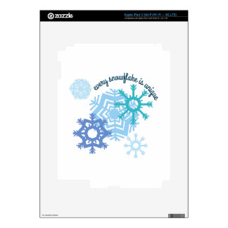 Every Snowflake Is Unique iPad 3 Decals