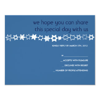 EVERY STAR IS UNIQUE Bar Bat Mitzvah Reply Card