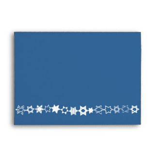 EVERY STAR IS UNIQUE Bar Mitzvah Invitation Envelope