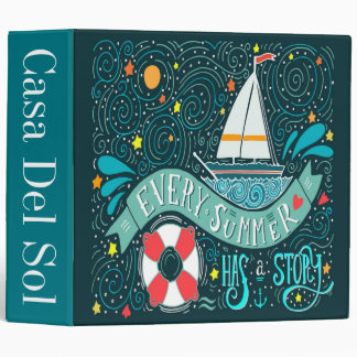 Every Summer Has a Story Binder Notebook