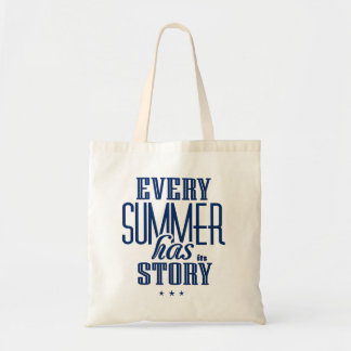 Every Summer Has It's Story-Text Design Budget Tote Bag