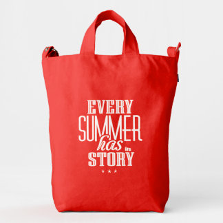 Every Summer Has It's Story-Text Design Duck Canvas Bag