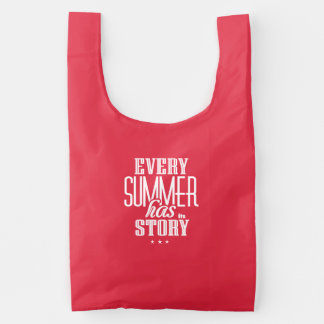 Every Summer Has It's Story-Text Design Reusable Bag