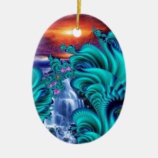 every teardrop is a waterfall 60x40 ceramic ornament