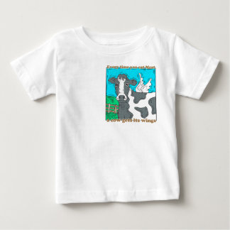 Every Time You Eat Meat a Cow Gets Its Wings Baby T-Shirt