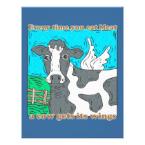 Every Time You Eat Meat a Cow Gets Its Wings Flyer