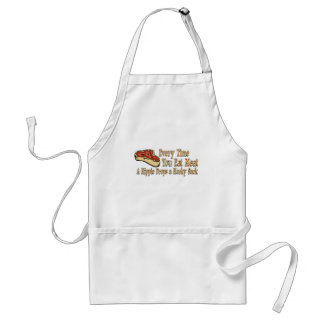 every time you eat meat t-shirts adult apron