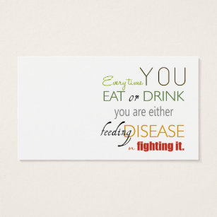Nutrition business cards templates zazzle every time you eat nutrition nutritionist card colourmoves
